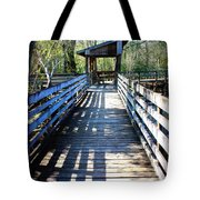 Morris Bridge Boardwalk Tote Bag