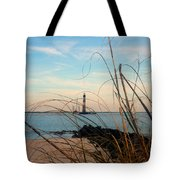 Morris Island Lighthouse In Charleston Sc Tote Bag