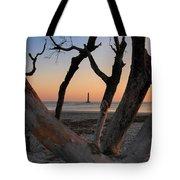 Morris Island Lighthouse Sunrise 2 Tote Bag