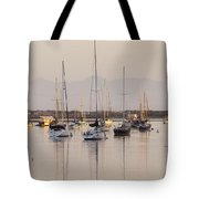 Morro Bay Boats In Early Morning Light   Tote Bag