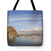Morro Harbor And Rain Clouds Tote Bag