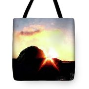 Morro Rock At Sunset Tote Bag