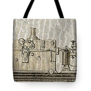 Morse Telegraph Machine, 1889 Tote Bag