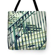 Mosaic And Iron Staircase La Quinta California Art District In Mint Tones Photograph By Colleen Tote Bag