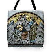 Mosaic At The Grotto Of St John Patmos Tote Bag
