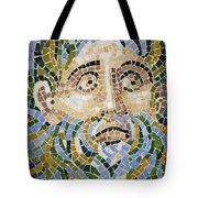 Mosaic Face Fountain Detail Tote Bag