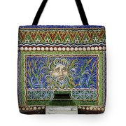 Mosaic Fountain At Getty Villa 3 Tote Bag