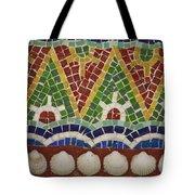 Mosaic Fountain Pattern Detail 4 Tote Bag