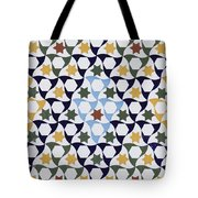 Mosaic From The Portico Of The Generalife Tote Bag