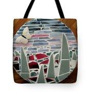 Mosaic Sailboats Tote Bag