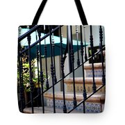 Mosaic Tile Staircase In La Quinta California Art District Tote Bag