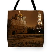 Moscow Cathedral Of Our Lady Of Smolensk Tote Bag