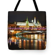 Moscow Evening, Overlooking The Kremlin. Tote Bag