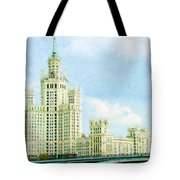 Moscow High-rise Building Tote Bag