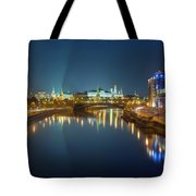 Moscow Kremlin At Night Tote Bag by Alexey Kljatov