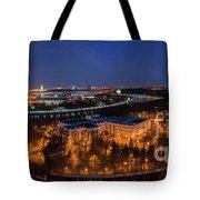 Moscow Night Panorama Tote Bag