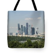 Moscow Skyline Tote Bag by Atul Daimari