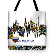 Moscow Skylines Tote Bag