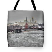Moscow Winter Look Tote Bag