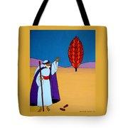 Moses And The Burning Bush Tote Bag
