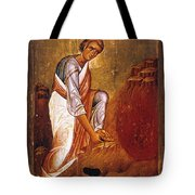 Moses Before Burning Bush Tote Bag