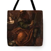 Moses Holding The Tablets Of Law Tote Bag