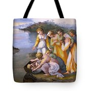 Moses Saved From The Waters Raffaello Sanzio Da Urbino Raphael Raffaello Santi Tote Bag