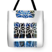 Mosque Foyer Window 1 White Tote Bag
