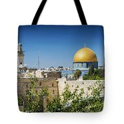 Mosques In Old Town Of Jerusalem Israel Tote Bag