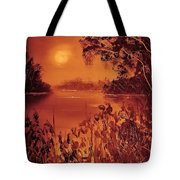 Mosquito Sunset Tote Bag