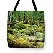 Moss Consuming The Forest Tote Bag