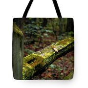 Moss Covered Fence Tote Bag