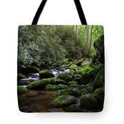 Moss Covered River Rocks Tote Bag