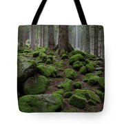 Moss Covered Rocks Tote Bag