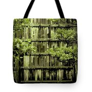 Mossy Bamboo Fence - Digital Art Tote Bag