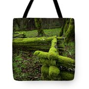 Mossy Fence 4 Tote Bag