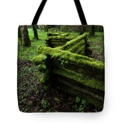 Mossy Fence 5 Tote Bag by Bob Christopher