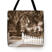 Mossy Live Oak And Picket Fence Tote Bag