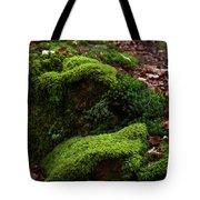 Mossy Rocks In Spring Woods Tote Bag