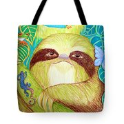Mossy Sloth Tote Bag
