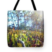 Mossy Sunburst Tote Bag