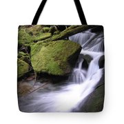 Mossy Waterfall Landscape Tote Bag