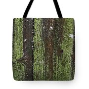 Mossy Winter Fence Tote Bag
