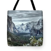 Most Beautiful Yosemite National Park Tunnel View Tote Bag