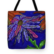 Most Unusual Poinsettia In A Midnight Blue Sky Tote Bag
