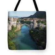 Mostar, Bosnia And Herzegovina.  Stari Most.  The Old Bridge. Tote Bag