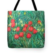Mostly Tulips Tote Bag by Kendall Kessler