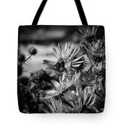 Moth And Flowers Tote Bag