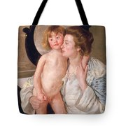 Mother And Boy Tote Bag