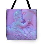 Mother And Child In Lavender Tote Bag